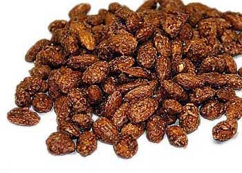 Cinnamon and honey almonds (170 per 1/4 cup)