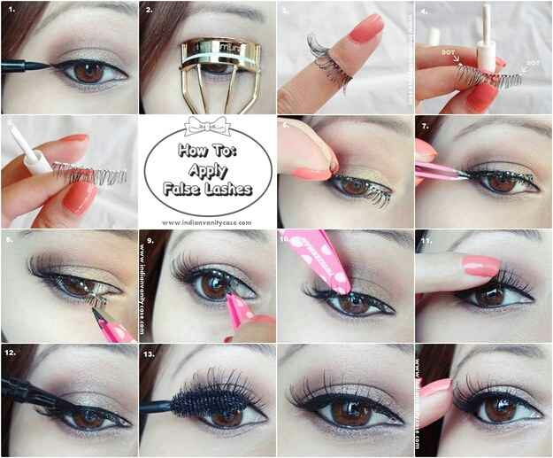 18. False eyelashes are kind of terrifying if you don't know how to apply them properly. Tweezers work wonders.