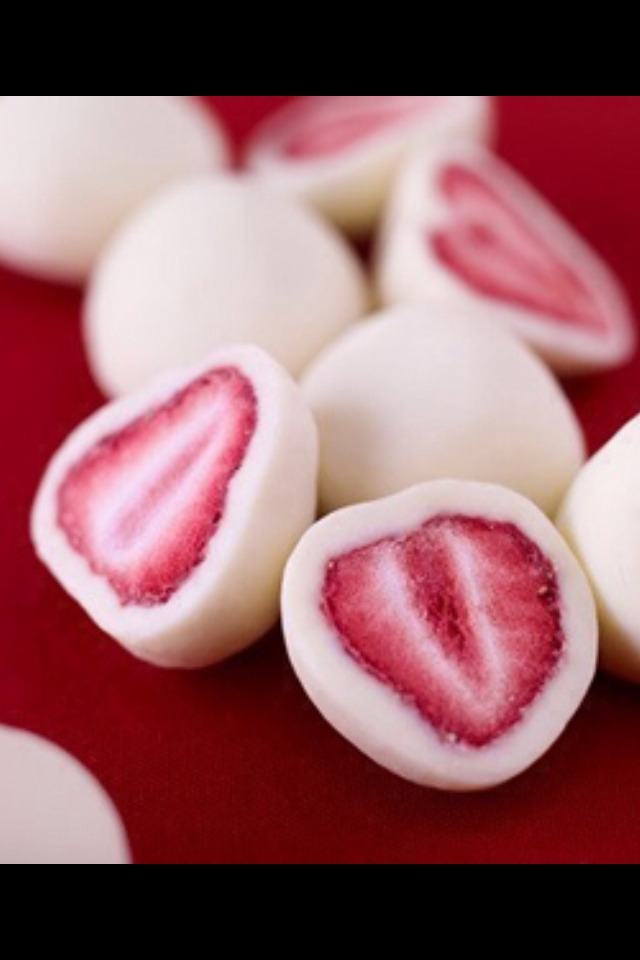 Dip your strawberries in Greek or Vanilla yogurt and freeze for about 20 minutes. Enjoy a yummy healthy treat.