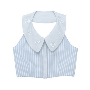 Cute cropped shirts. Especially shirts with collars like this.