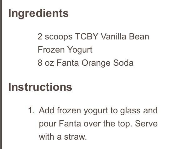 Any fanta drink with vanilla ice cream will be yummy 😉