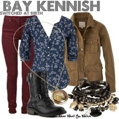 Another cute outfit she wears. She is very expressive and wears interesting clothing and this is an example of that.