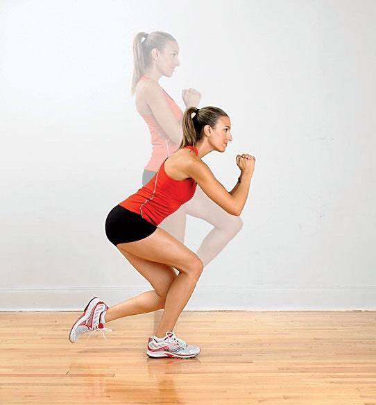 2 sets of 10 single leg squats on each leg