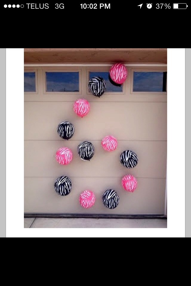 Put how old they are in balloons on you garage for guests to find the house and just a cool idea! Like it up💗