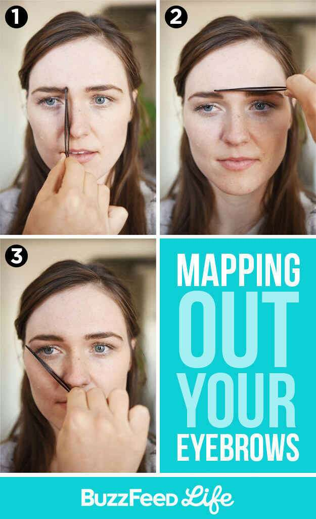 5. Map out where your eyebrows should begin and end. Learn how on the next page.