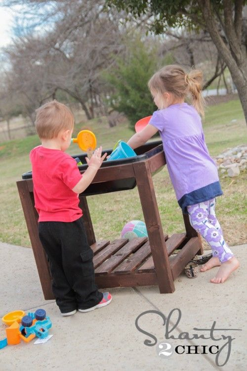 12. DIY sand/water table