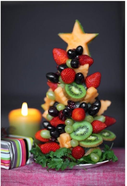 Fruit Christmas tree.