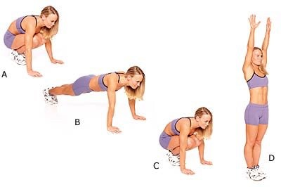 10 burpies (no pushup)
