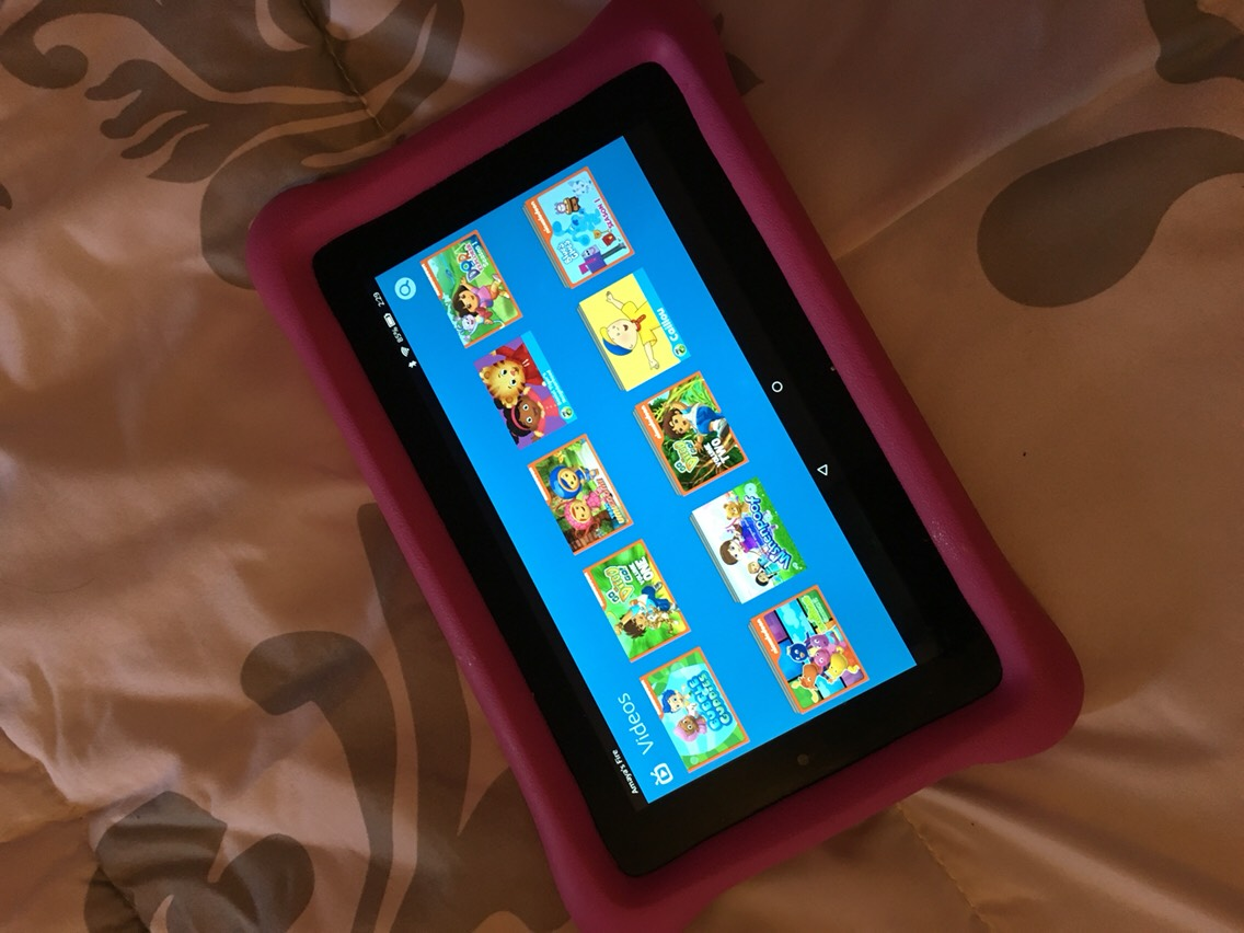 A Kindle Fire Kids Edition is an absolute must have!!!! Great for long travel days.  This is my daughters personal tablet. It came with cartoon videos, apps and games and of course you could purchase more. I just recently put ABC Mouse on my daughters Kindle.