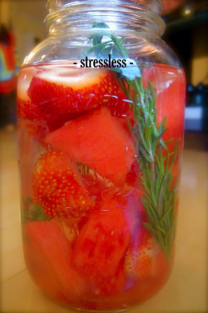 Stressless This is my favourite combination, the blend of watermelon and rosemary is divine.  This vitamin water is ideal for helping you balance stress on a mental and physiological level.