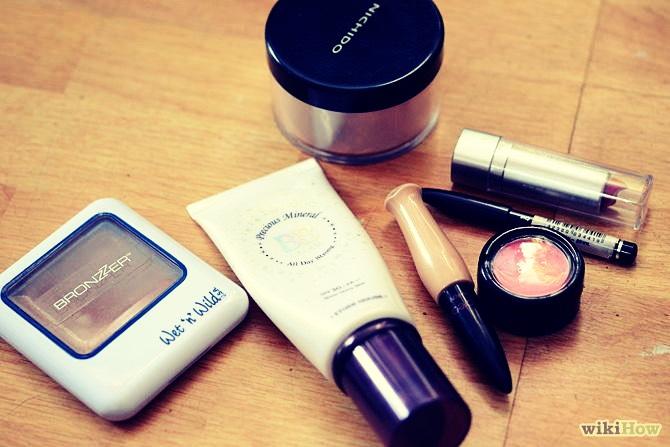 First Off, Makeup! 1. A light foundation  2. A neutral concealer 3. Tinted lipbalm  4. A translucent lip gloss 5. Mini mascara