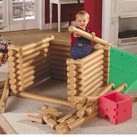 DIY Lincoln Logs.