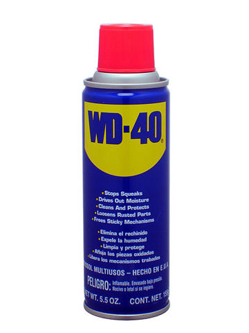 spray with wd40