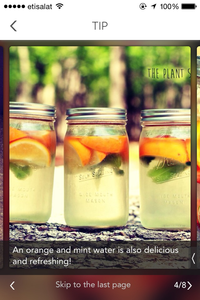 Orange and mint water is also delecious and refreshing