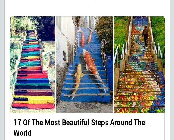 Enjoy this breathtaking collection of a few of the most tantalizing and colorfully intricate steps from around the globe.