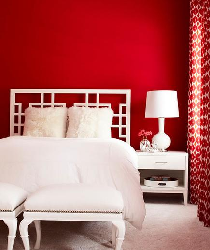 Red Hot Set on decorating with red? Choose a shade that is crisp and clean. Keep the space modern and bright by balancing it with all-white accents.