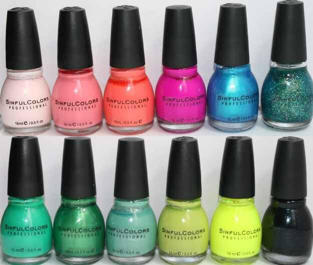 7. SINFUL COLORS NAIL POLISH $1.99   Whoever runs Sinful Colors must be some sort of fashion forward, super chic saint with no concern with profit, because this stuff RULES. Any color you can think up, they sell.  Compare to: OPI, China Glaze.  Try: Buying all of them, You won't regret it.