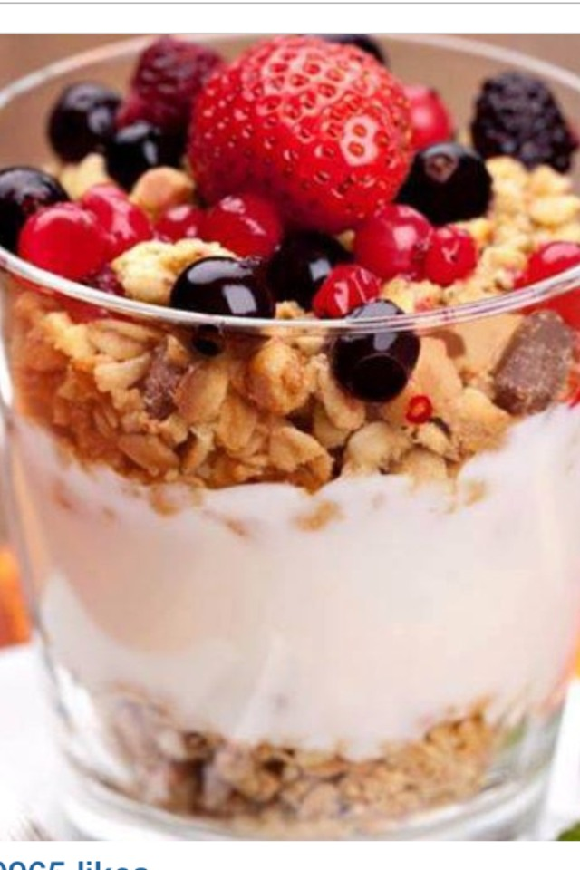 Berries Dark chocolate  Granola Yogurt