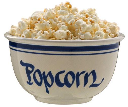 10 c Plain popped popcorn