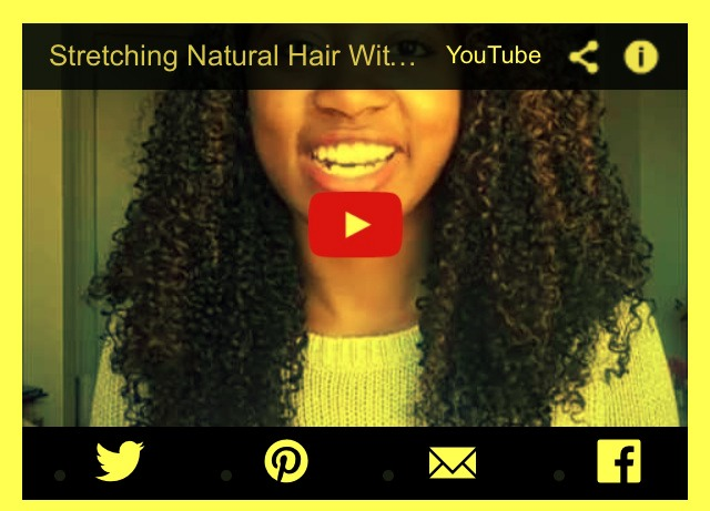 19..Stretch natural hair without heat in just 10 minutes.