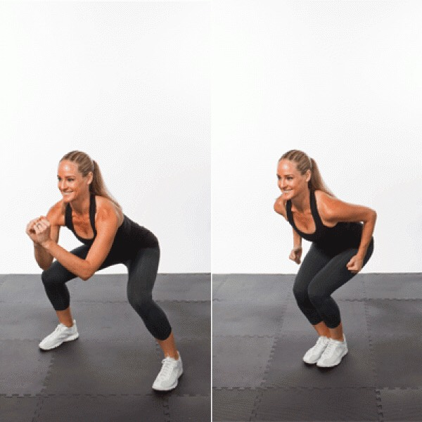Jump Wide to narrow squats  20