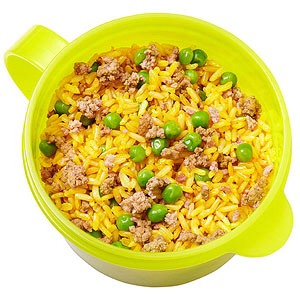 Brown Spanish rice and ground beef in a thermos  Tortilla chips  Green grapes  Makes:4 cups Prep15 mins   Cook40 mins