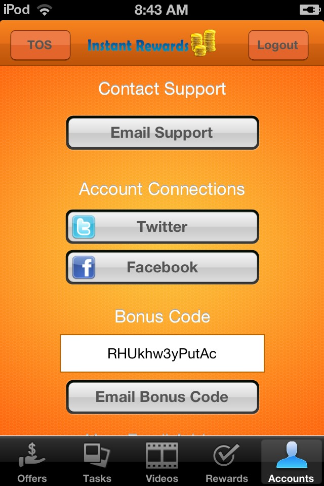 Here is my referral/bonus code. Use this when you are signing up