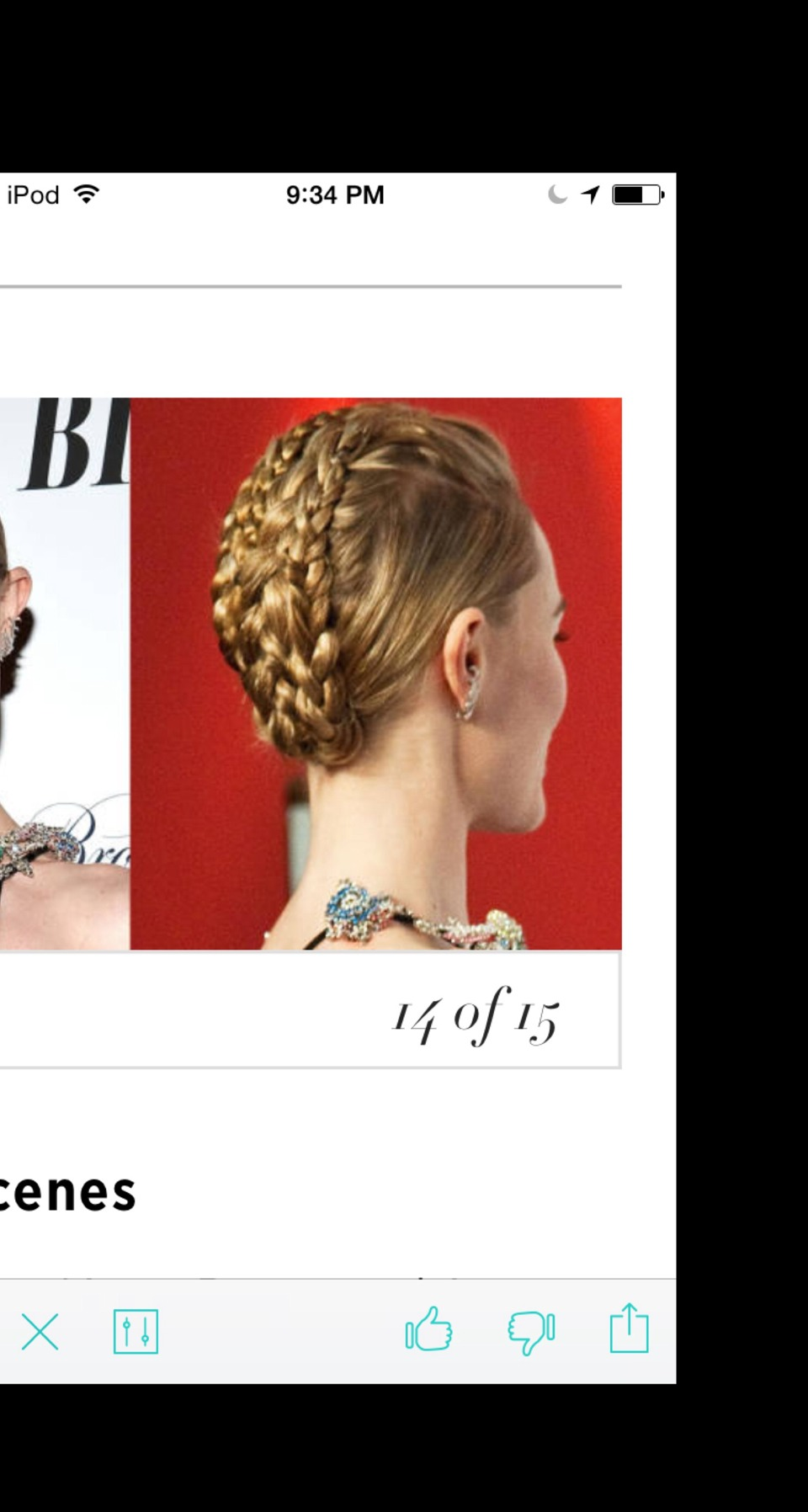 Behind the Scenes From the front, Kate Bosworth's simple, swept-back hairstyle lets all eyes focus on her bejeweled collar. But from the back, the jewels get some serious competition from an equally-as-intricate braided updo.