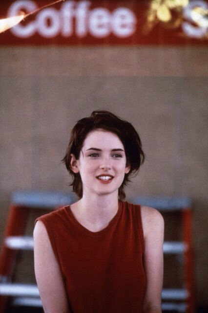 "Winona Ryder in Reality Bites, 1994 ""Winona Ryder rocks the best short, grungie hairdo ever in Reality Bites"". —Elisabeth von Thurn und Taxis,Vogue Style Editor at Large"