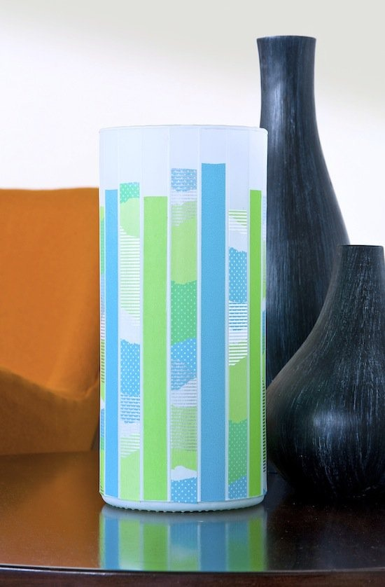 Cover your glass lamps with washi tape.