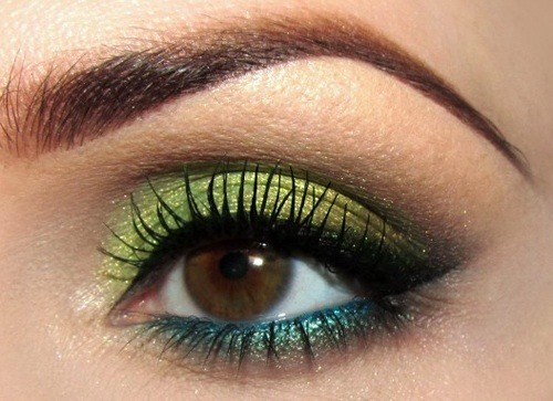 Green also make your brown eyes pop! If you have hazel eyes , green shadow actually causes your eyes to appear greener!