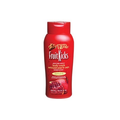I couldn't live without this body wash by Fruit Kicks-it leaves my skin glowing, and smooth as a baby's bottom