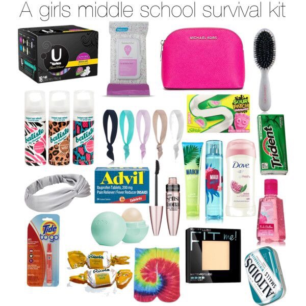 Have you ever been in an emergency at school and needed stain remover? A tampon? A pad? Makeup? If you have this simple Survival Kit, nothing will ever bother you again. ... ... .... ..... Except school...