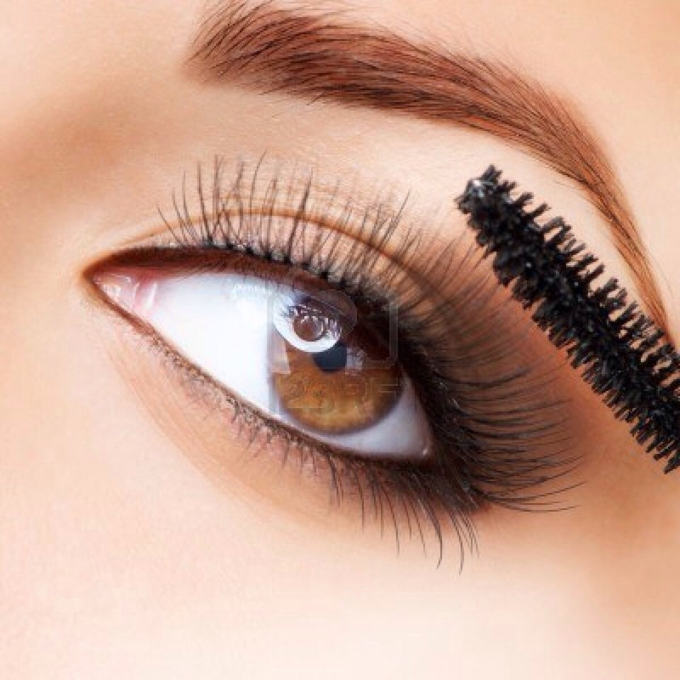 Take mascara brush dip into Vaseline adding just enough to cover the brush.