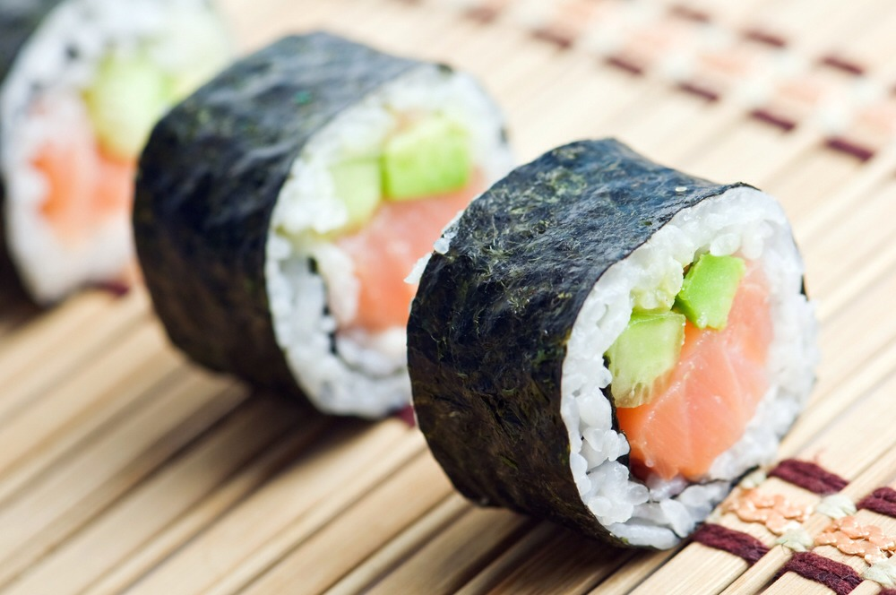 1. Sushi: Japanese food is usually healthy, but when you Americanize it and start adding things like cream cheese and tons of avocado, that's when you run into problems when trying to lose those few extra pounds. What's your best bet? Skip the spicy mayo & cream cheese and aim for the tuna roll.