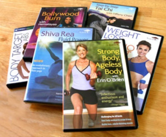 Exercise DVD's  300-500 calories per hour