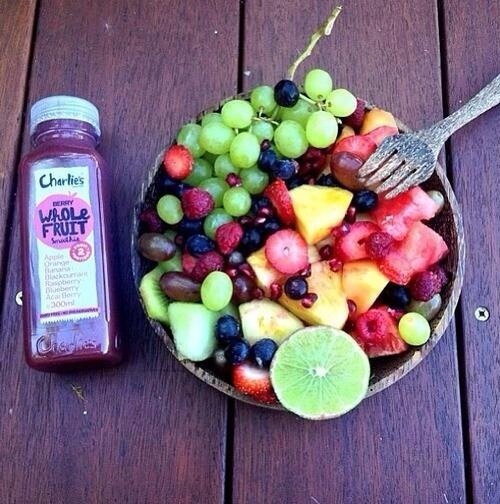 Make a yummy fruit salad!  Add some of your favourite fruits and pair it with a healthy juice.