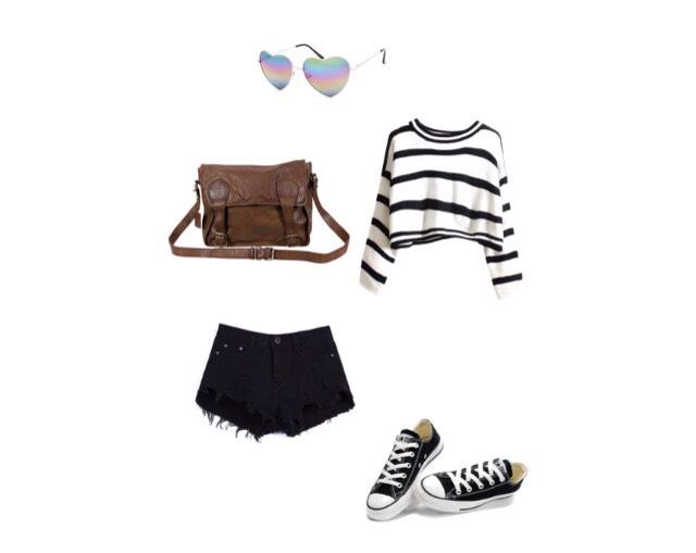 Shirt - blackfive.com  Shorts - sheinside.com  Shoes - topfanshoes.co  Bag - thegrandsocial.com.au  Sunglasses - tillys.com