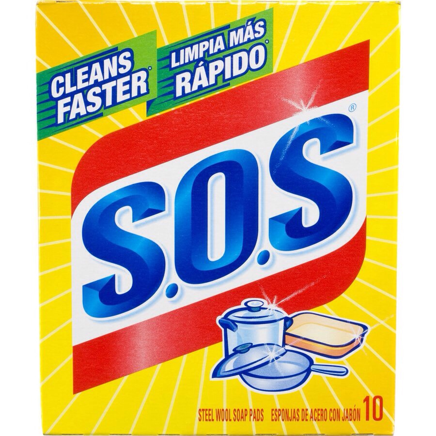 When you buy a pack of SOS pads cut them all in half to double your buy!!!! They last twice as long and have the same efficiency