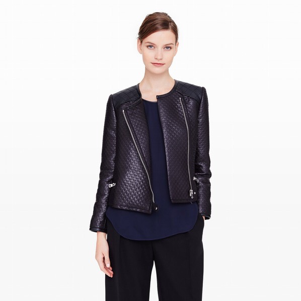 """A Leather Jacket Whether you pick up a vintage piece from a local thrift store or one fresh cut from Club Monaco, leather jackets are perfect for breezy fall days on campus."""" Leather jackets are an easy way to achieve an edgy look and can be dressed up or down."""