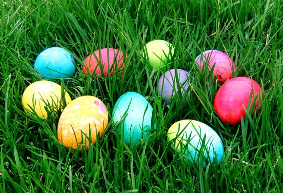 Have your own Easter egg hunt! Get creative when filling those eggs - you can use chocolate, toys, play doh, candy, etc.