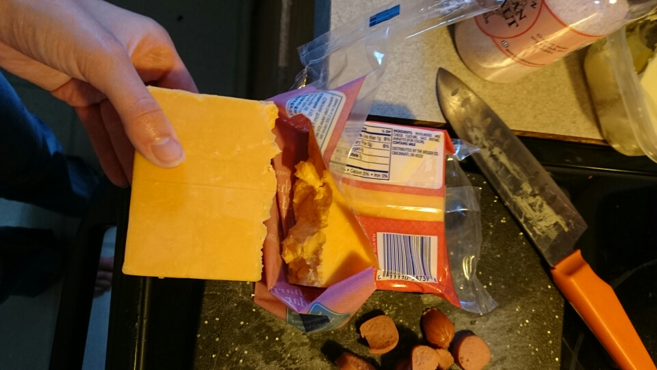 I had a giant brick of cheese that I broke in half for the sauce 😂