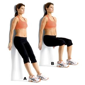 Wall Squat: This technique can be done anywhere, whether it be at house, the health club or also your work workplace.