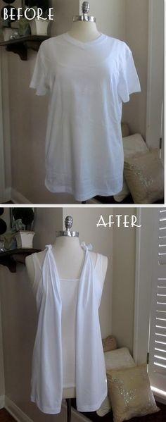 14. Make your own t-shirt vest.