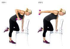Kneeling Triceps Extension: In order to crank up the heat, make sure that you keep your arm straight as you extend!