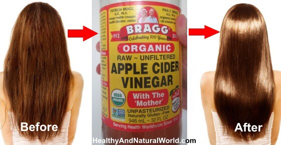 REVEAL SHINY, BRASS FREE HAIR Apple cider vinegar can act as a clarifying step to remove any product buildup. Apply 5 drops of vinegar (mixed with cold water in a bowl) n hair and scalp after you've throughly rinsed out your conditioner you can even leave ACV rinse in to give strands extra shine.