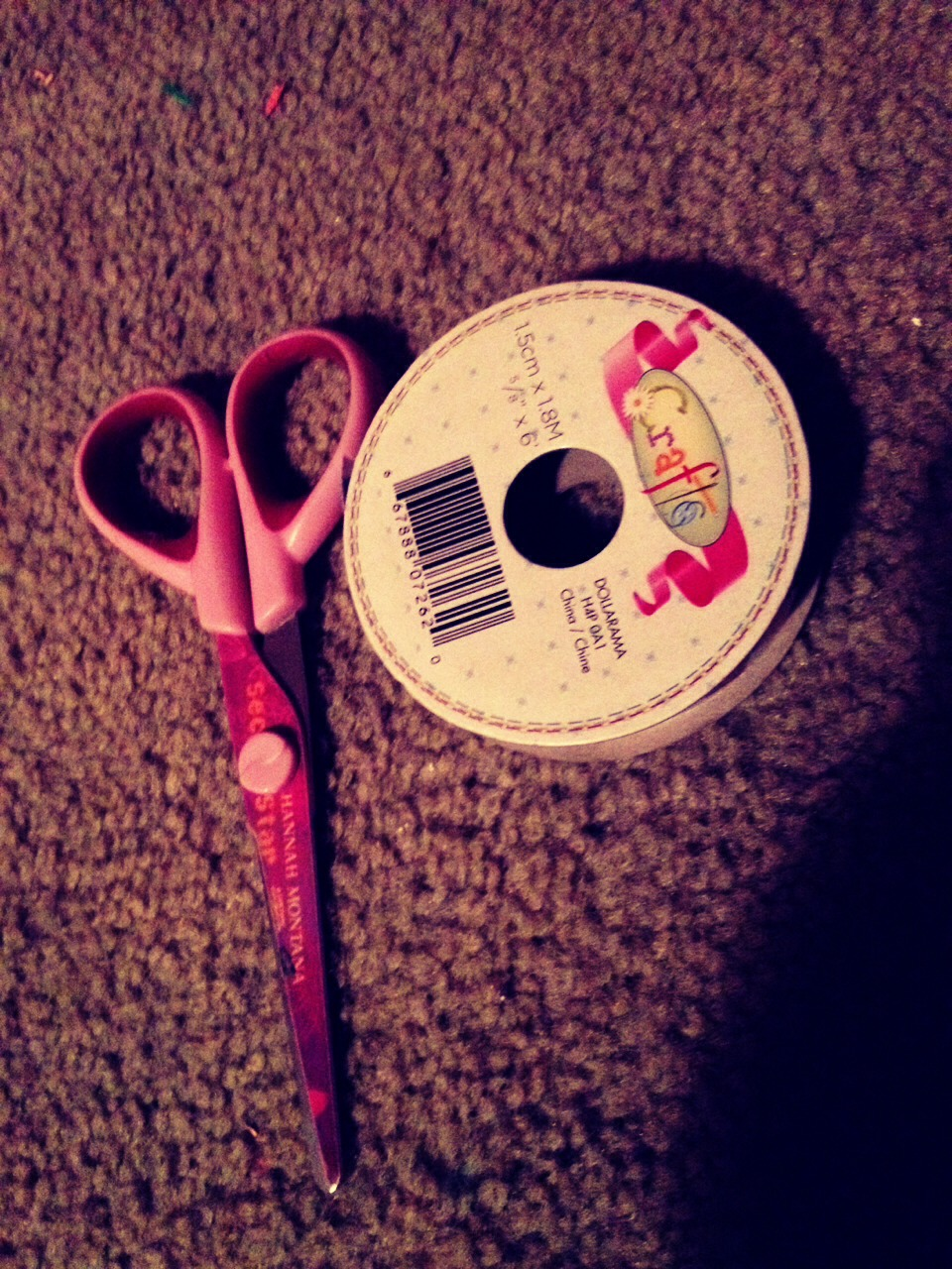 What you'll need.  Scissors Any ribbon of your choice