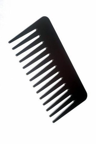 Use a wide tooth comb so your hair doesn't break.