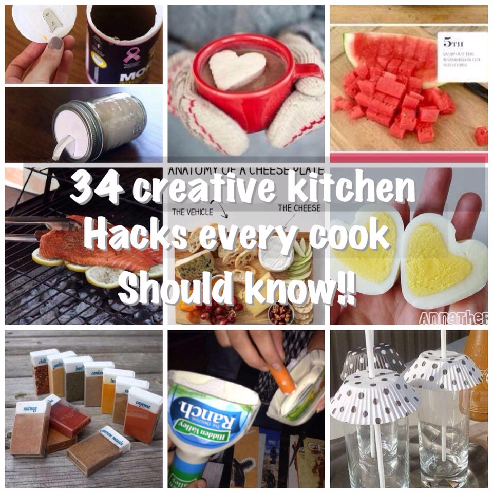 Cooking is hard enough, but there are a lot of kitchen hacks that can help make that easier. These will help you become creative and efficient in the kitchen.