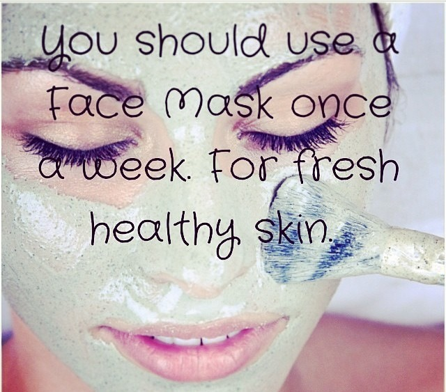 You should use a face mask once a week for clear and amazing skin! 🌸
